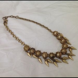 Lovely modern gold colored J.Crew j crew necklace